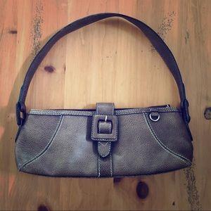 Liz Claiborne brown faux leather shoulder bag